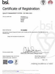 FM-666894 Certyfikat HQ Plastics