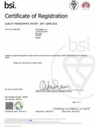 TS 666892 Certyfikat HQ Plastics